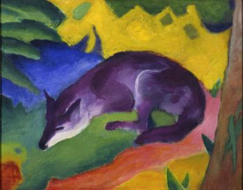 Blue Fox, 1911 - Franz Marc (German, 1880-1916) Expressionism