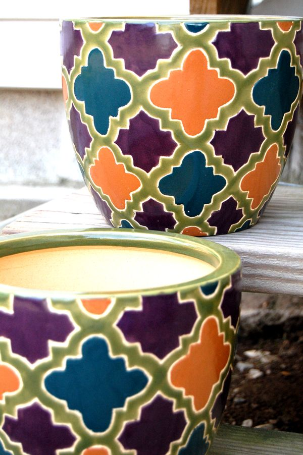 Marvelous Inside Decorative Pots Patterns And Colors For New House