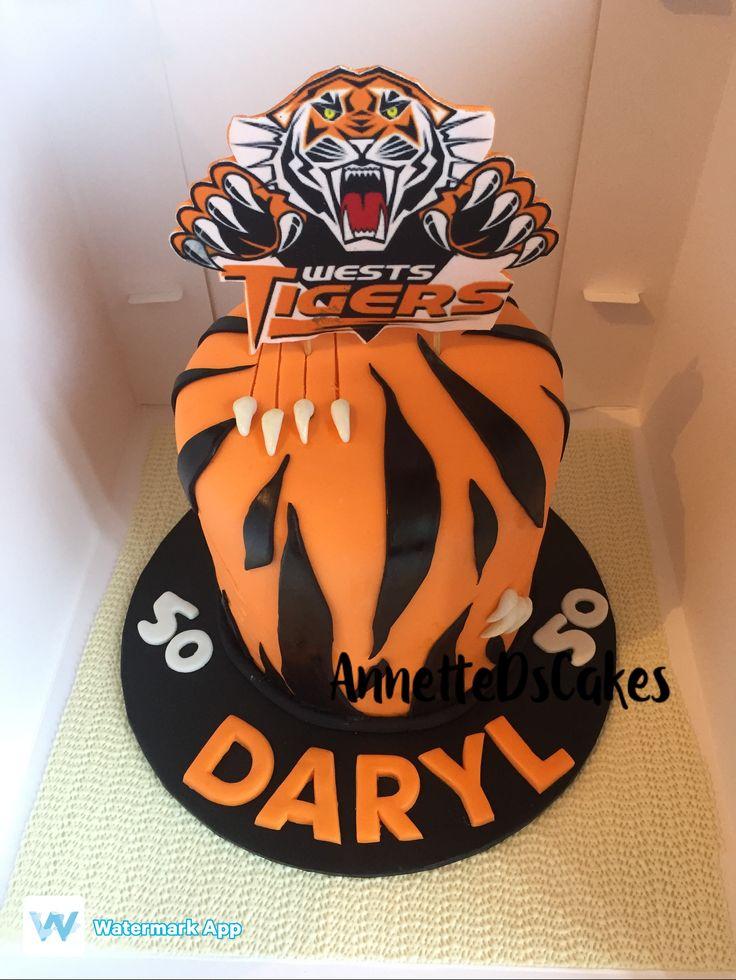 Tiger nrl cake
