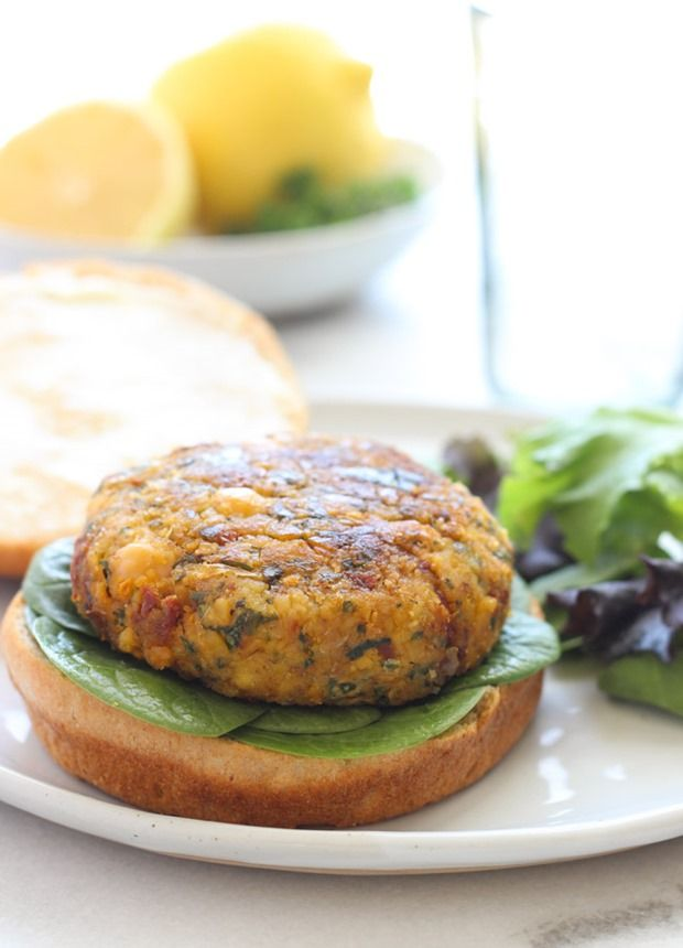 Vegan Mediterranean Chickpea Burgers- bursting with flavor from ...