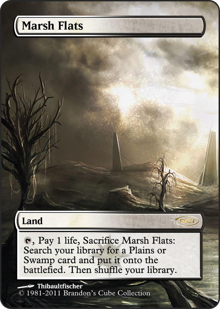 Magic The Gathering Marsh Flats Proxy