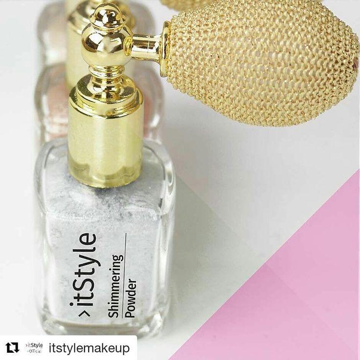 Pendant les fêtes, il est important de briller! Essayez les nouveaux reflets d'argent chatoyants du #shimmer poudre #ITSTYLEMAKEUP #cosmetic #makeup #beauty