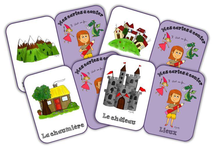 Les contes - Cartes à conter : les lieux