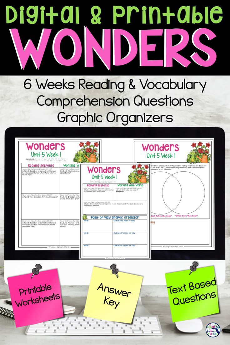 small resolution of Wonders 3rd Grade Unit 5 for Google™ Classroom Distance Learning   Reading  vocabulary