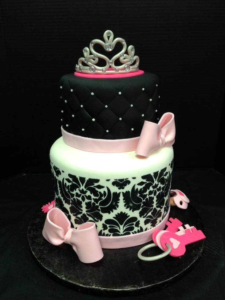 Damask And Diva Baby Shower Cake My Cake Art Shower