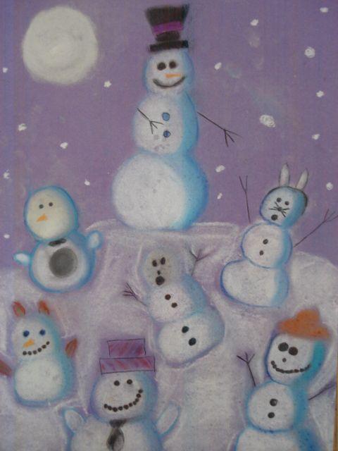 Great snowmen drawings based on the wonderful book, Snowmen at Night.