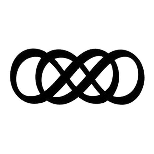 """The infinity symbol is an abstract concept describing something without any limit! Forever and always times two, this double infinity is just like the one seen on the show Revenge! Sheet Size: 1"""" x 2"""""""