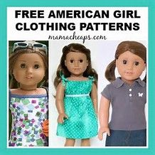 Bildresultat för Free Printable American Girl Patterns