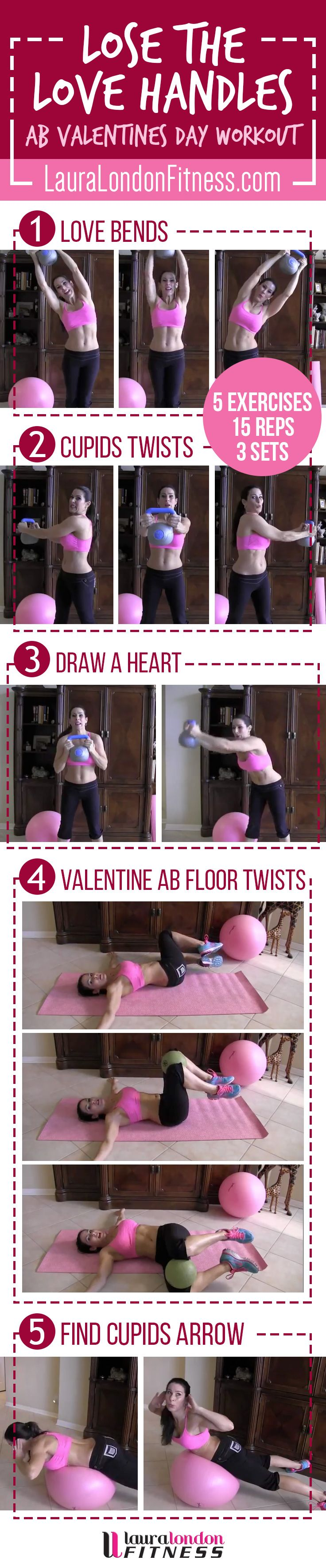 Lose the Love Handles, muffin top what ever you call that extra weight around your middle.  Let's crush it with this workout.  Share and Re-PIn too.  #lauralondonfitness
