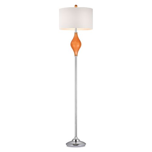 64 best funky floor lamps images by destination lighting on dimond lighting floor lamp with white shades in tangerine orange with polished nickel finish d2510 mozeypictures Gallery