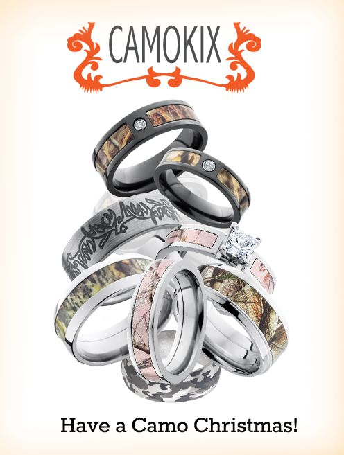How about camo wedding rings for your camo Christmas?