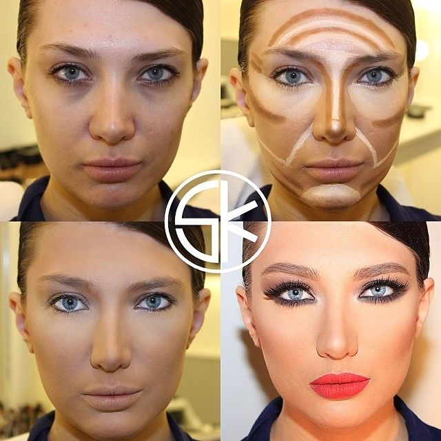 174 best CONTOURING MAKEUP PICTORIALS and Videos images on Pinterest
