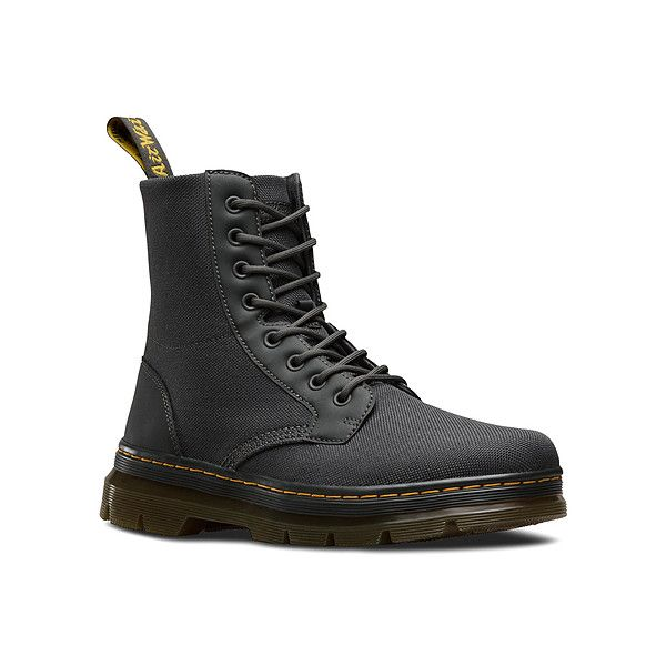 Dr. Martens Combs Fold Down Boot ($85) ❤ liked on Polyvore featuring shoes, boots, women, military boots, dr martens boots, military combat boots, bootie boots and short boots