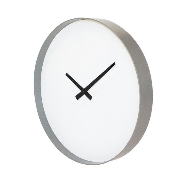 Puristic wall clock in grey and white