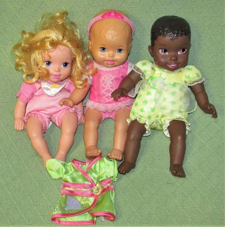 "My First Disney Princess BABY DOLL Lot Soft Body Tiana TOLLYTOTS 12"" Toys #DisneyTollytots"