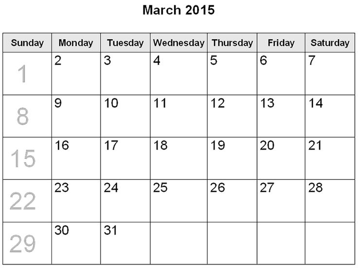 Download March 2015 Calendar Images. Cute March 2015 Calendar or Calendar 2015 March Templates, Excel, Word, Pdf, National Holiday in March 2015 Calendar.