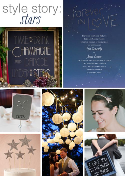 Your love was written in the stars and what better way to celebrate your vows than this starry-night themed wedding by @dawninvites!