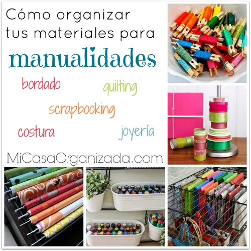 Organiza tus materiales para manualidades