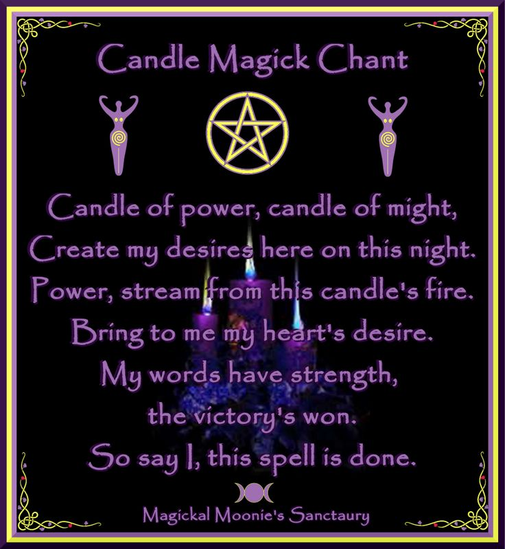 candle magic chant Stuff to Remember Pinterest