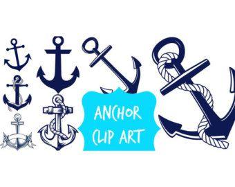 Anker-ClipArt-Grafik: Treibanker nautische Clipart von DigiWorkshop
