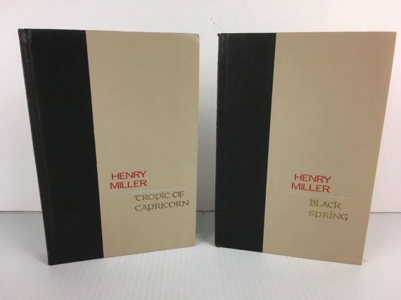 2 Henry Miller Hardcover Books  Tropic of Capricorn by bishopbrand