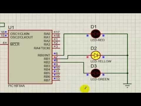 feu rouge avec le microcontroleur - YouTube