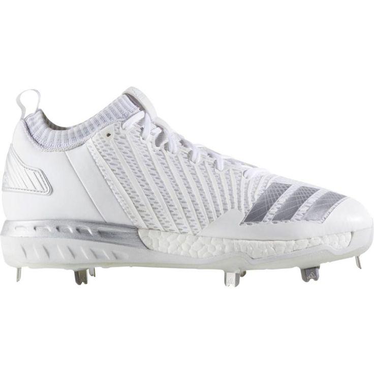 adidas Men\u0027s Boost Icon 3 Metal Baseball Cleats, Size: 13.0, White
