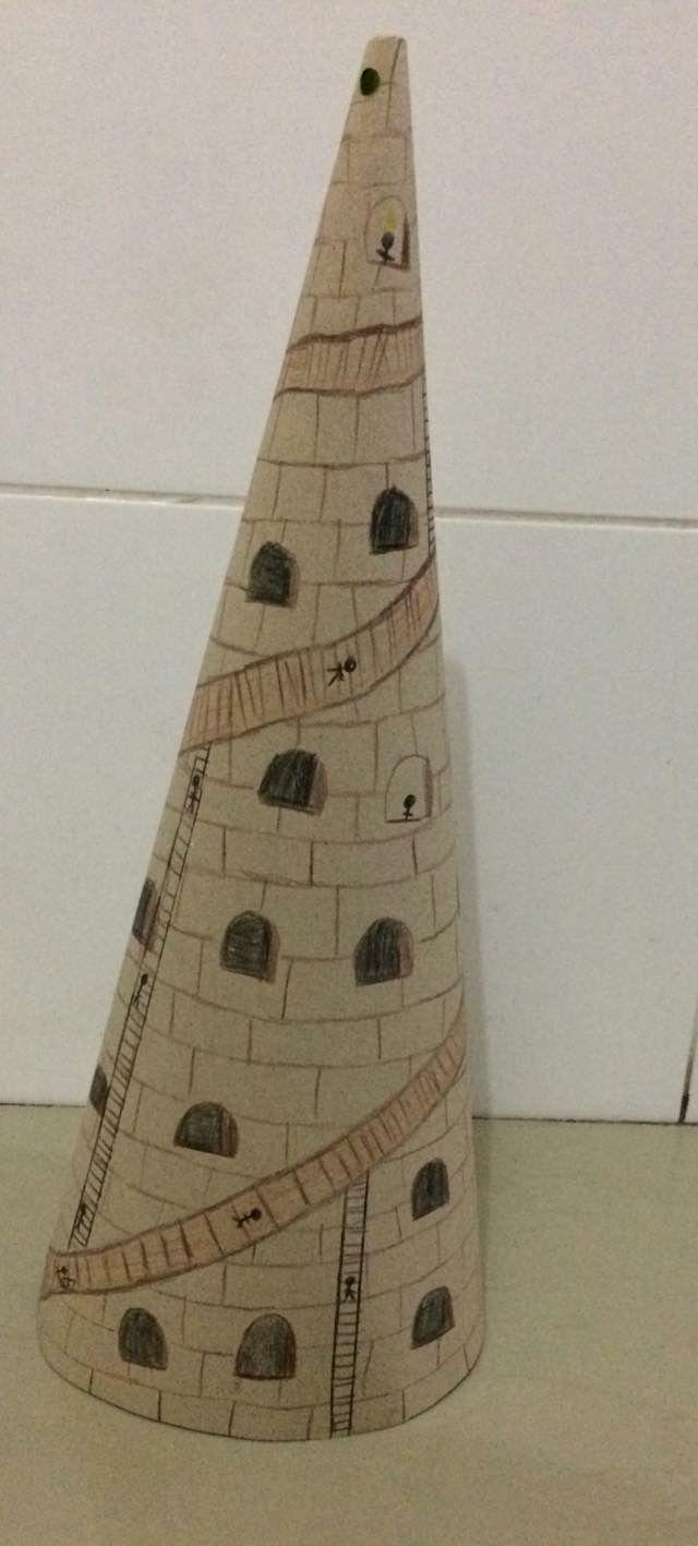 Torre De Babel Feita Com Papel Cartao Torre De Babel Torre