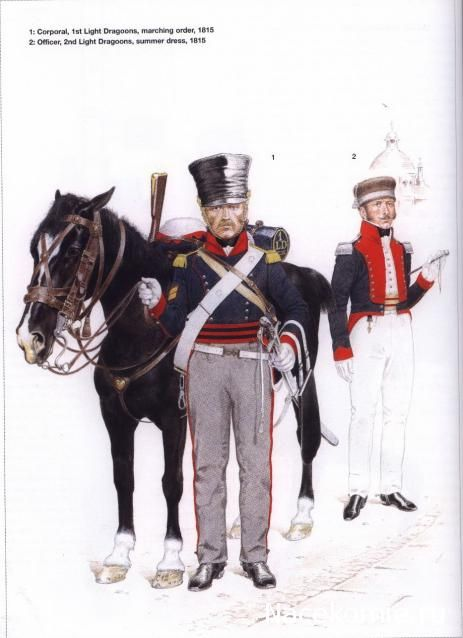 The King's German Legion (2) - 1812-1816  1-Corporal,1st Light Dragoons, marching order 1815 2-Officer,2nd Light Dragoons, summer dress 1815