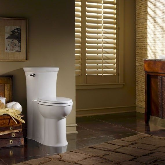 American Standard 2786.128.020 Tropic Right Height Flowise Elongated One Piece Toilet in White