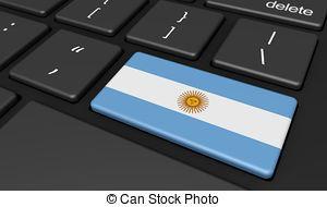 Argentina Flag Computer Keyboard