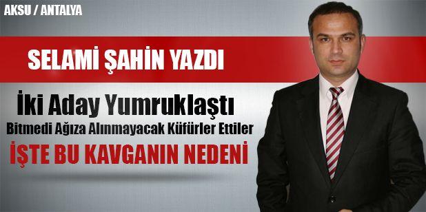 Aksu'da son gün aday adaylığını açıklayan Mehmet Akif Ordu ile kendinden önceki ilçe başkanı ve şimdi aday adayı olan Eczacı Halil Şahin parti binasında kavga ettiler.