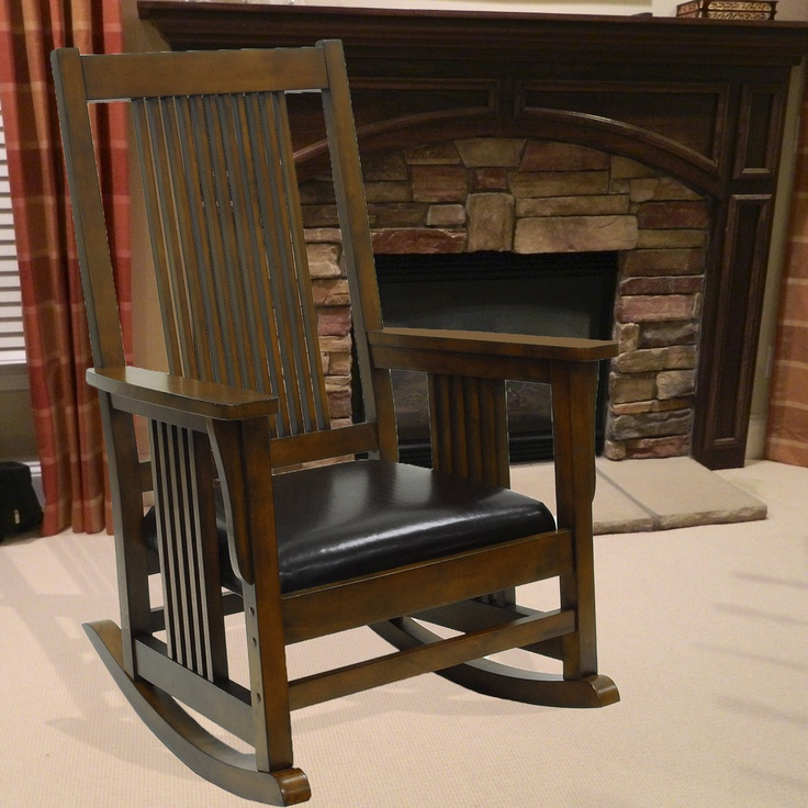Mission style outdoor rocking chair woodworking projects for Porch rocker plans