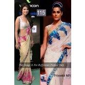 priyanka-prity-golden-saree