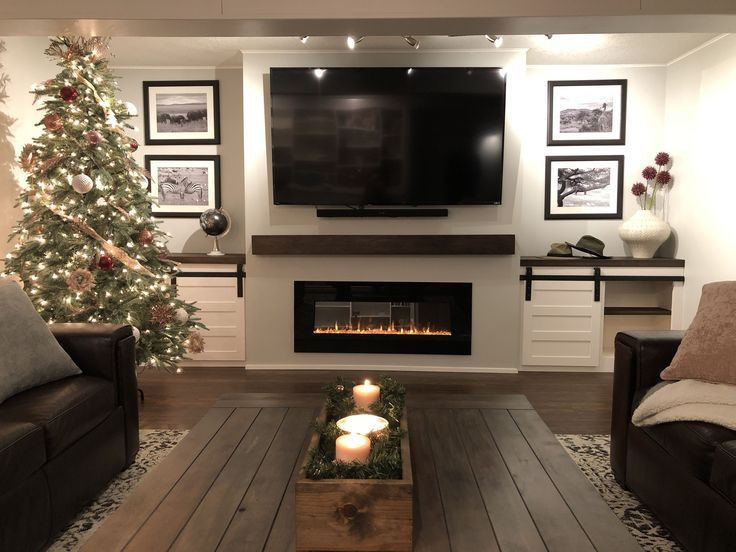 30 Incredible Fireplace Ideas For Your Best Home Design Basement Living Rooms Living Room With Fireplace Diy Finish Basement Living room ideas electric fireplace