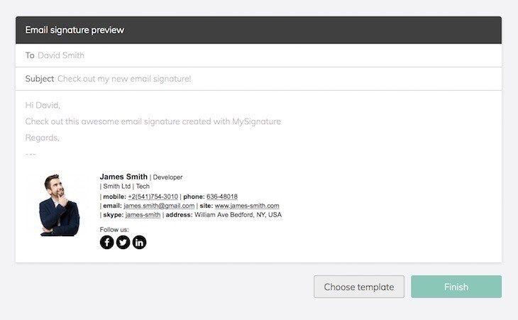Free Email Signature Creator herramienta para crear firmas de correo electrónico