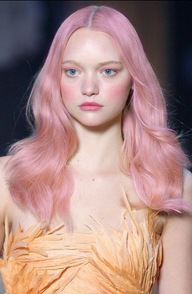 Pretty in pink hair