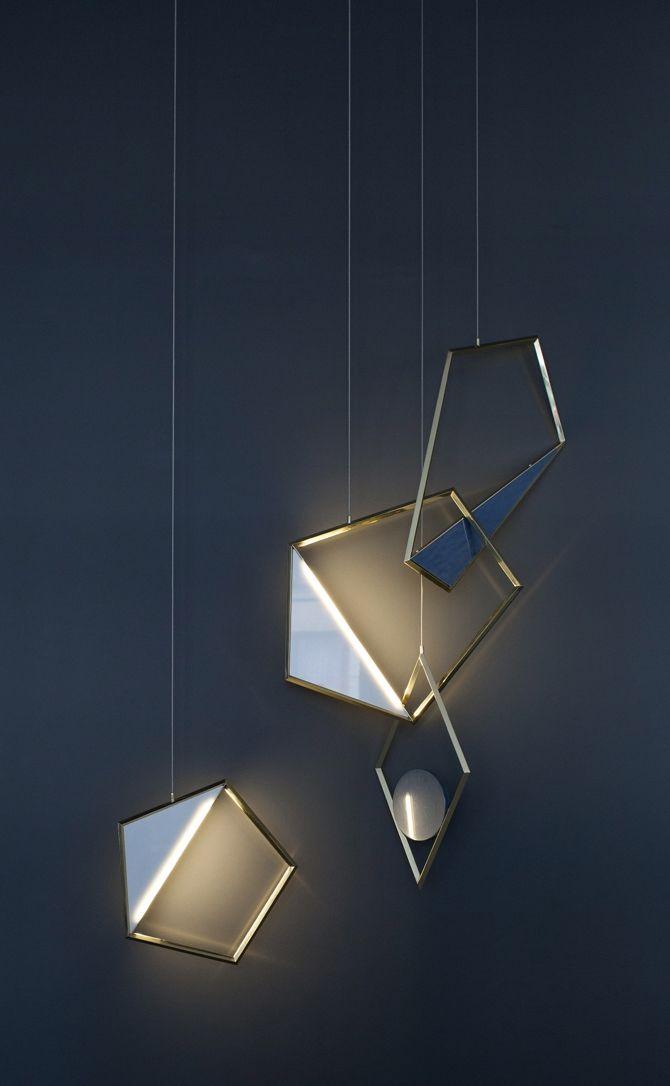 Tangle sculptural pendant light designed by Flip Sellin and Claudia Pineda De Castro