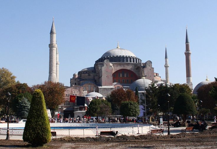 Hagia Sophia was built in 531 and this is the world's largest orthodox church with magnificent architectural work of art. And in 1453 was converted into a mosque has  four minaretsadded. http://www.turkeyistanbulmedical.com