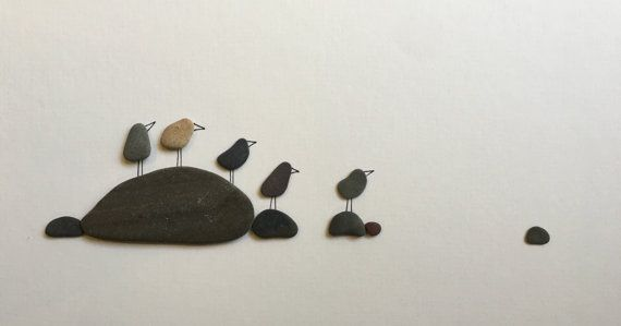 Original Pebble Kunst Seevögel durch Sharon Nowlan 8 von PebbleArt