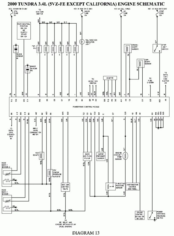 15  2002 Toyota Tundra Electrical Wiring Diagram2002