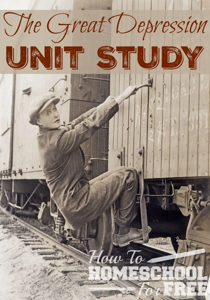 Use this FREE Unit Study to learn about the Great Depression! via @Rachel @ SurvivingTheStores.com