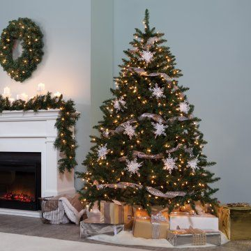 Classic Pine Full Pre-lit Christmas Tree - Artificial Christmas Trees at Hayneedle