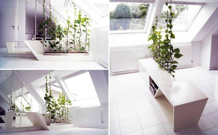 Zimmerpflanzen-Deko - Ein Schrank mit eingebautem Blumentopf