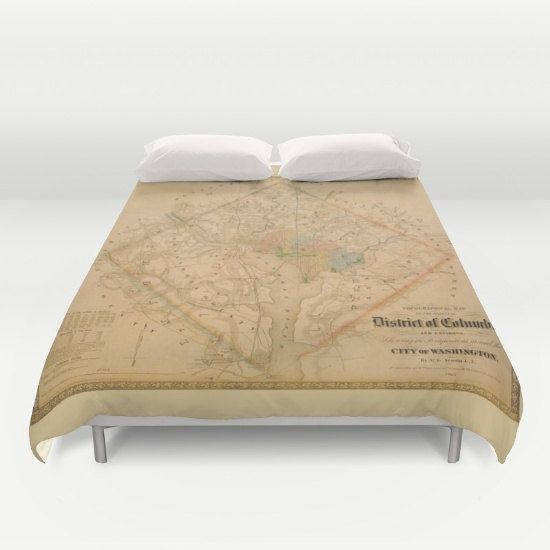 Civil War Washington DC Map Duvet Cover or comforter by Mapology