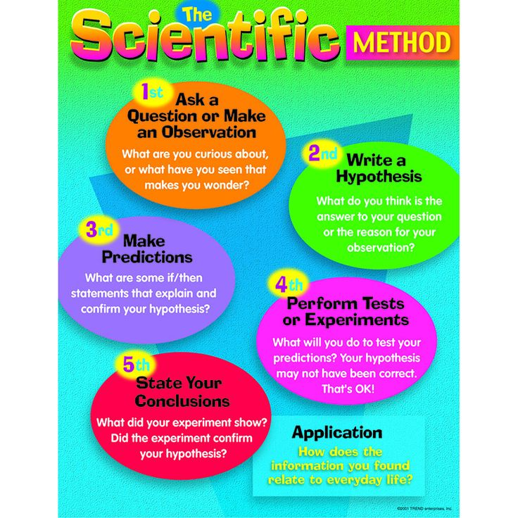 CHART THE SCIENTIFIC METHOD GR 48 Scientific method