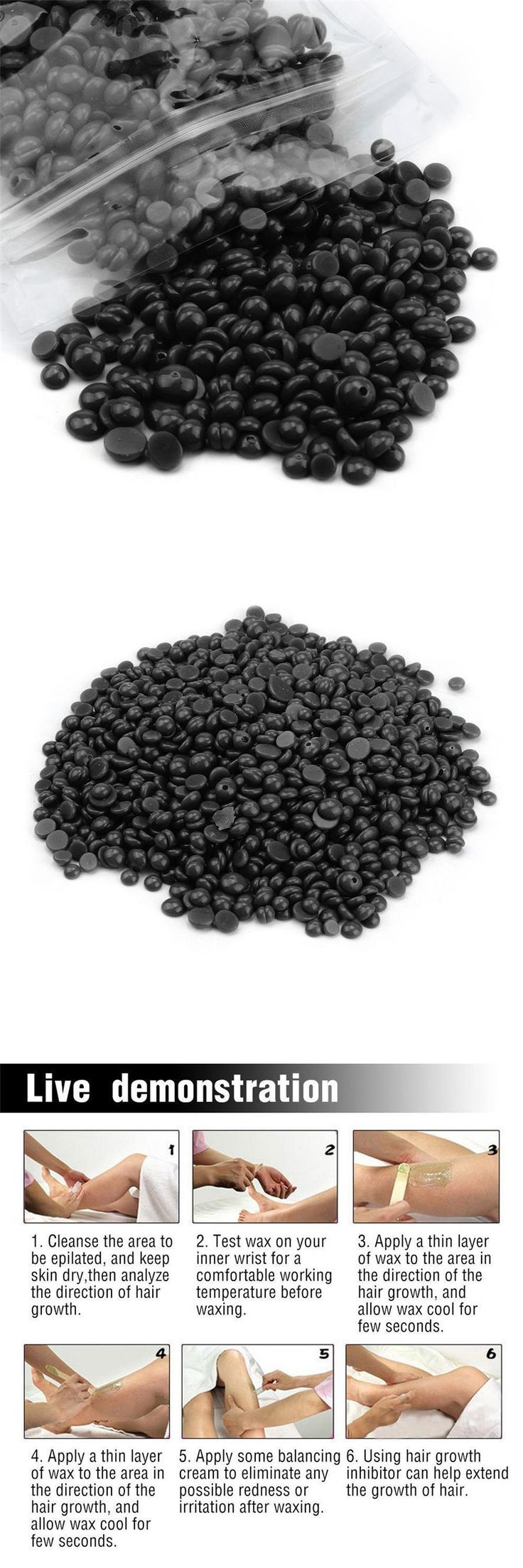[Visit to Buy] 50g/1PC Depilatory Wax Coffee flavor No Strip Hair Removal Bean Depilatory Hot Film Hard Wax Pellet Waxing Bikini Depilatory Wax #Advertisement