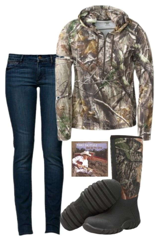 """Outfit of the Day:)"" by backwoods-princess ❤ liked on Polyvore featuring Wrangler and Muck Boot"