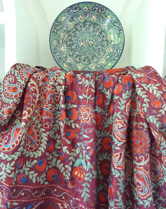 Exquisite Suzani handmade from BukharaUzbekistan.Tablecloth