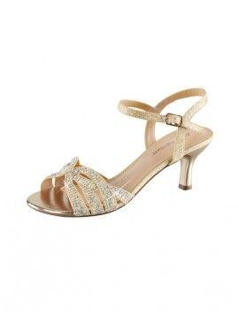 chaussures dorees mariage petit talon